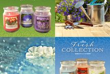Scented Candles / Bring the fragrances of a english garden, trees, fresh linen, pacific breeze, french tulips, autumn spices and a relaxing spa into your home.