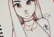 (lány) ember rajzok