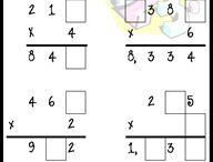 School - Math: Multiplication & Division / by Stephanie Pudlowski