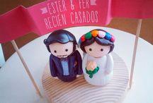 muñecos pastel  boda