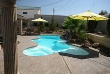 Desert Springs by San Juan Fiberglass Pools / Width 14'  / 4.27M Length 30'  / 9.14M Depth 6'  / 1.83M Area 290ft2 / 27M2 Volume 6800G / 25741L