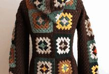 blusas de crochê de lã