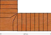 modul lépcső felülnézet