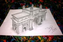 3D Sketching / Abhishek Thamke's 3D Sketches Collections.
