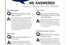 Vehicle Q & A  / Questions and answers about vehicles, car care, specific models and more from Machens Advantage Magazine.