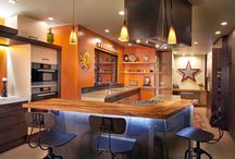 """NFC Portfolio: Queensbury Residence / Industrial/ Artistic style- the clients wanted a functional kitchen that reflected their individual style, which was Eclectic/ Industrial/ Contemporary. The clients often used the term """"Funky"""" to describe their style."""