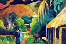 Tahitian paintings