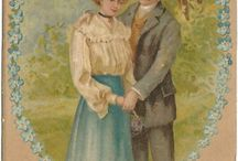 Vintage Postcard - Romantic Couples