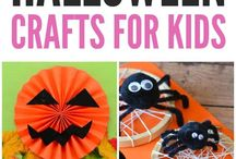 Halloween crafts for kids / Some of the best Halloween craft ideas for kids. Lots of ideas for simple pumpkin painting or decorating, hand print painting, spooky decorations and masks.