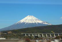 View of Mount Fuji from the Shinkansen / View of Mount Fuji from the Shinkansen