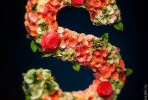 Цветы из глины.