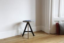 A Stool / The A Stool is perfect throughout the home as a small table, laptop stand and seat. It's distinctive style was inspired by Alex's love of typography.