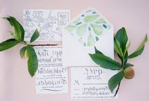 Wedding Stationery and Decor / Wedding and stationery decor ideas to inspire brides for their own weddings. Real life and styled shoot wedding photo examples.