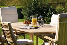 Dining Al Fresco / The summer sunshine is bright, and the temperature is just right to dine outdoors...  Bramblecrest's Teak garden furniture dining set's - majestic elegance... http://www.bramblecrest.com/products/53-all/