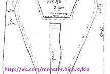 Monster High Sewing Patterns - Free / Various free monster high sewing patterns I plan to use. Honestly, this is just for personal organization.