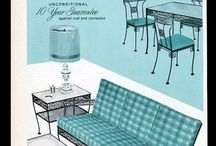 Vintage Advertising Wrought Iron Patio Furniture