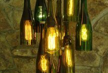 Lámpák üveg palackokból
