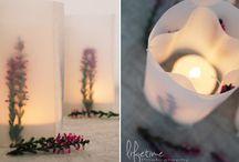 Windlichter/ Blumendeko