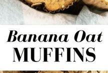 banana oats muffens