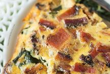 Crustless Bacon, Spinach Mushroom Quiche