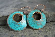 Copper Patina Earrings / The beauty of copper and turquoise patina