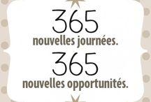 Bonnes résolutions • Quotes new Year • Bonnes résolutions