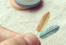マスキングテープで羽