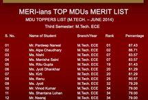 #MERI - Meri-ians Top MDUs Merit List!!!