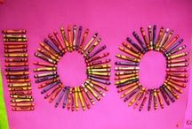 School projects / 100th day crayons / by Tara Carr