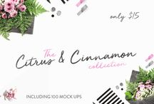 The Citrus & Cinnamon Mockup Collection / This week we have partnered up with Citrus and Cinnamon to offer their entire collection of 100 Mock Ups (in JPEG Format)! This set is 100% accessible to all, and is perfect for showcasing your work.