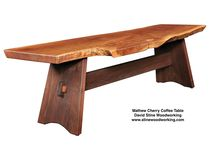 Benches, from David Stine Woodworking / A portfolio of handcrafted benches from David Stine Woodworking, made with sustainably harvested native Illinois hardwoods. Visit StineWoodworking.com to order.