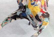 toro bull 2 / scultura filo di ferro carta pesta  / quotidiano / giornali colla vinilica sculpture creation in iron wire with papier-machè / newspaper bull toro