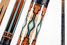 Viking Two Feathers Cues / Magnificent Viking Heirloom quality cues. Choose from six magnificent cues inspired by Native American heritage. These cues are designed to provide as much pride and enjoyment in looking at them as they do when you're shooting pool with them. Made 100% in the USA.