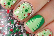 Christmas nail art / paznokcie, wzorki, zdobienia, manicure, nails, nail art, nail design,