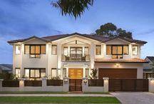 Modern house facades