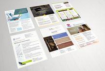 Business: moderne Designs, Vorlagen, Ideen für Geschäftsausstattung & Marketing / Mit diesen Vorlagen liegt gutes Design erst in deinen und dann in den Händen deiner Kunden und Geschäftspartner! Du tauschst nur noch die Daten und passt Farbe und Layout deinen Wünschen und deinem Corporate Design entsprechend an – schon verfügst du über ausdrucksstarke Präsenz on- und offline, mit denen du Kunden und Geschäftspartner bindest. Hier erwarten dich Templates, Design-Vorlagen für dein Business, Muster für Rechnungen, Exposes, Stellenausschreibungen und mehr.