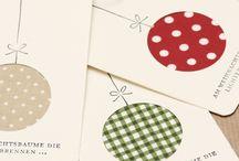 Karácsony / üdvözlő kártyák, dekorációk