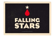 Falling Stars (own work) / Falling Stars is a serie of minimalist posters about the fall and rise of professional cyclists. Designed by Menno Anker
