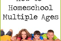 Homeschooling Multiple Ages or Large Families / Homeschooling for multiples ages and stages