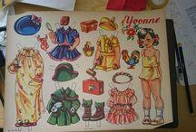 Ann Justina paper dolls, paperinuket, klippdockor, Påklædningsdukker / Ann Justina swedish artist