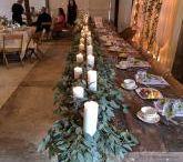 Wedding greenery ideas / Gorgeous flowing greenery inspiration pics...eucalyptus, ruscus, smilax, ferns, moss