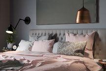 Blush and Grey Bedroom Decor