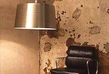 FS43 Shade / Brass drum shade, custom paint interior