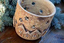 Keramika zimní/vánoční