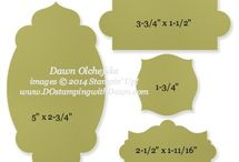 Stampin' Up! Framelits Sizes