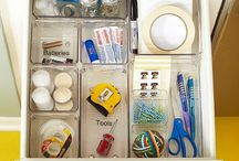 Organizing the Junk Drawer / We all have one ... admit it! Here are some basic tools and tips to help you transform your catch-all into an organized area in your home.