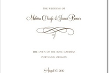 ♥ Wedding ~ Invitations and Such ♥ / by MJW
