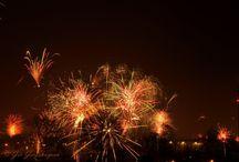 Vuurwerk / Vuurwerk boven Brunssum. Nieuwjaarsnacht 2014