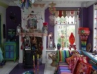 Boho style / Colourful, funky home wears and fashion