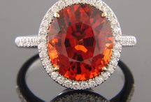 Garnet / The gemstone Garnet is the official birthstone for January as adopted by the American National Association of Jewelers in 1912.  Garnets occur in every color except blue. According to folklore and legend, Garnet's powers include healing and strength and are believed to regulate the heart and blood flow and to aid in curing depression.  In earlier times, Garnets were exchanged as gifts between friends to demonstrate their affection for one another and to ensure that they would meet again. / by Shreve, Crump & Low